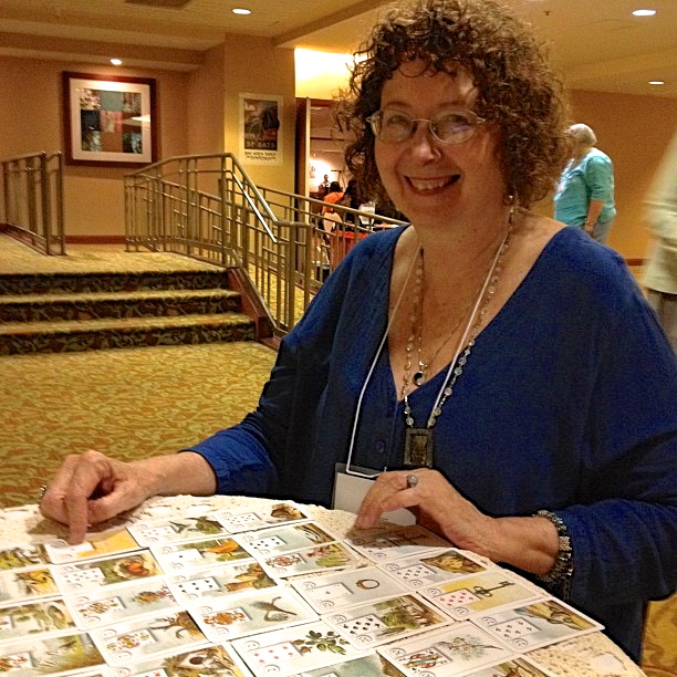 Mary-reading-Lenormand-cards